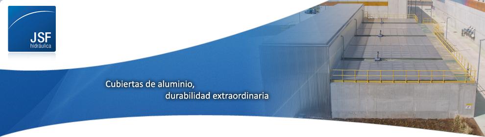 Cubiertas flotantes para agua potable y aguas residuales   JSF Hidráulica